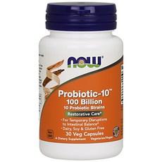 나우푸드 프로바이오틱-10 100 빌리언 베지 캡슐